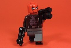 The Red Outlaw (MrKjito) Tags: lego minifig super hero comic comcis dc batman gotham red hood jason todd robin outlaw guns death lazarus pit