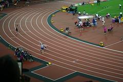 Jonnie Peacock - 100m champion (h_savill) Tags: london 2017 para athletics championships olympic stadium stratford session athlete competition sport track seat spectator fan cheer t44 amputee leg