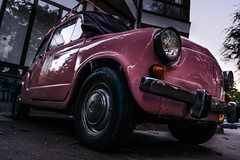 Old school (Master Iksi) Tags: fica fiat pink dorcol belgrade old car vehicle romantic view nikond7100 sigma1750