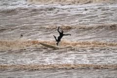 Fancy surfer - Sidmouth, Devon - Feb 2017 (Dis da fi we (was Hickatee)) Tags: sidmouth devon surfer surfing surf