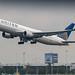 United 767-300ER leaving Amsterdam for Newark