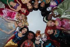 Disney Princesses (anko97) Tags: disneydoll disney doll disneyprincess snowwhite cinderella aurora ariel belle jasmine pocahontas mulan tiana rapunzel merida elsa anna moana adreamisawishyourheartmakes onceuponadream underthesea taleasoldastime
