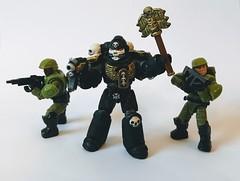 Custom Grimaldus (funnystuffs) Tags: mega construx bloks custom grimaldus warhammer 40k merek space marines marine helsreach 40000 action figure green stuff black templars chaplain
