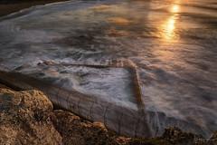 Sun Beam (Crouchy69) Tags: sunrise dawn landscape seascape ocean sea water coast clouds sky rocks long exposure avalon beach pool sydney australia