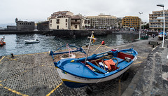 Blue boats at the harbour. (CWhatPhotos) Tags: puerto del la cruz tenerife going holiday holidays photographs photograph pics pictures pic picture image images foto fotos photography artistic that have which with contain olympus esystem four thirds digital camera lens 43 mft micro cwhatphotos boat harbour atlantic ocean port blue