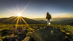 Pause for a moment (Toukensmash) Tags: sunset alpine alps austria österreich styria steiermark adventure sunrays sun sunlight setting standing person people girl dramatic mountains mountainrange landscape rocks silhouette panoramic hiking tranquility peak women sigma1020 sony alpha58