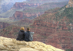 Communing with Nature (Runemaker) Tags: couple manandwoman nature solitude mindfulness meditation meditating grandcanyon nationalpark brightangelpoint canyon rim arizona southwest usa