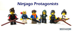 Ninjago Protagonists (WhiteFang (Eurobricks)) Tags: lego collectable minifigures series city town space castle medieval ancient god myth minifig distribution ninja history cmfs sports hobby medical animal pet occupation costume pirates maiden batman licensed dance disco service food hospital child children knights battle farm hero paris sparta historic ninjago movie sensei japan japanese cartoon 20 blockbuster cinema