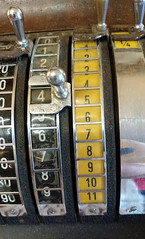 Old Cash Register (Snowbaby67) Tags: missmollys tearoom vintage resale redruth cornwall cashregister