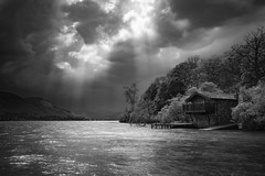 Duke of Portland (Peter Henry Photography) Tags: ullswater lkake lakedistrict dukeofportland boathouse storm cloud rays sunshine sky