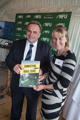 Neil Parish MP and Minette Batters (NFU pics) Tags: unitedkingdom gbr nfururalcrimereportlaunch manifesto ruralcrime report houseofcommons july 2017