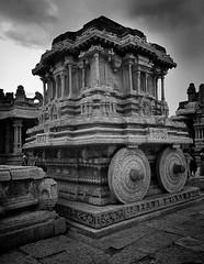 Stone Chariot (Absolutely_Smashing) Tags: karnataka hampi building old wheels stone chariot