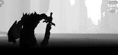 """For honor"" (L1netty) Tags: games screenshot minimalism blackandwhite gaming reshade pc deck13 lordsofthefallen mountain fantasy monochrome demon armor siluet"