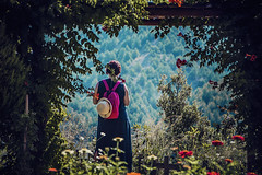 A moment alone (Melissa Maples) Tags: bucak turkey türkiye asia 土耳其 nikon d3300 ニコン 尼康 nikkor afs 18200mm f3556g 18200mmf3556g vr iskotur roadtrip excursion summer turk woman flowers