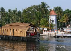 CHURCH, Backwaters of Kerala, near Alappuzha (Alleppey), India (kk_wpg) Tags: houseboats kerala backwaters travel 2012 asia india kkwpg travelpictures travelphotos church