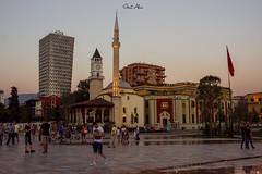 tirana (Gent Aliu) Tags: tirana city cityscape coulturs religions mosque church modern flag architecture albania