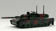 Leopard 2A4 (TheRookieBuilder) Tags: leopard2a4 mainbattletank armor lego legodigitaldesigner mecabricks blender render