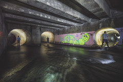 RIP Glow (_soliveyourlife_) Tags: tunnel underground drain