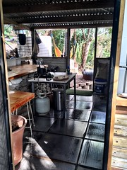 Treehouse kitchen. Middle Percy Island.