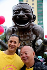 Day of Laughter (Dave & Janice Photography) Tags: vbdayoflaughter dayoflaughter yueminjun vanbiennale laughter mortonpark vancouver vancouverbc publicart lululemon laughingyoga thecarnivalband amazinglaughter