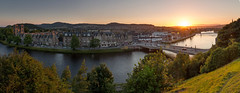 Sunset over Inverness (Kyoshi Masamune) Tags: inverness riverness uk scotland kyoshimasamune scottishhighlands highlands northcoast500 nc500 sunset wideangle ultrawideangle panorama citypanorama invernesscastle nessbridge standrewscathedral cokinfilters cokinnd8 cokinnd4