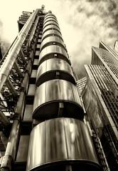 Lloyd's of London (PeskyMesky) Tags: london blackandwhite bw monochrome lloydsoflondon squaremile architecture building