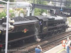 Black Five 44932 (Faversham 2009) Tags: swalefestivaloftransport 44932 black5 blackfive faversham kent england uk railway station train trains rail steam