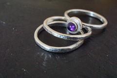 trio of stacking rings for Macro Mondays: Three (quietpurplehaze07) Tags: rings daughter silversmith three macromondays silver macro slate