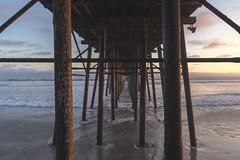 Oceanside Pier (24/52) (adamsarasin) Tags: oceanside ocean pier oceansidepier waves clouds sunset converginglines sandiego symmetry water seascape goldenhour sonya7ii rokinon24mm14 landscape beach