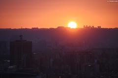 Sunset in Taipei [EXPLORED] (Iyhon Chiu) Tags: 中埔山 林口 台北 台北市 夕陽 太陽 日落 落日 夕暮れ 夕方 新北市 sun sunset taipei 台灣 taiwan linkou dusk 台電大樓 sky