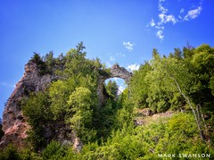 Arch Rock, Mackinac Island (mswan777) Tags: limestone rock arch mackinac island travel michigan forest tree nature scenic tall nikon d5100 sigma 1020mm outdoor mackinaw summer leaf landscape