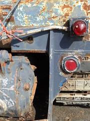 Red tread (Nekoglyph) Tags: kirkleatham redcar museum cleveland teesside rnli tractor lifeboat blue rust metal old red lights orange rope treads caterpillartracks