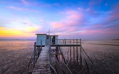 Pêcherie (f.ray35) Tags: carlet loireatlantique 44 pays de la loire pêche filet corsept sky sunset light marée romuald effray canon eos700d