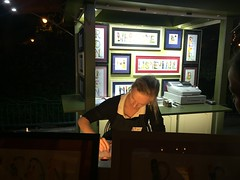 "Calligraphy Artist at Downtown Disney • <a style=""font-size:0.8em;"" href=""http://www.flickr.com/photos/109120354@N07/35985771205/"" target=""_blank"">View on Flickr</a>"