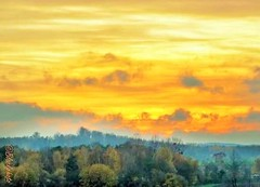 Two years back in time... (eikeblogg) Tags: landscapeshots moods natureza naturephotography trees sky sunset clouds view colorful contrast horizon moody germany eifel canonbridge landecape ngc