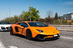 SuperVeloce (Nico K. Photography) Tags: lamborghini aventador lp7504 superveloce orange supercars combo r8 carscoffee nicokphotography germany böblingen
