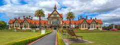 Rotorua Museum (vicmarnz) Tags: tudor building museum rotorua newzealand hdr panorama