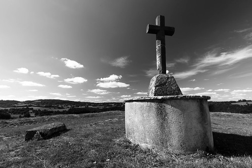The drama of an old cross