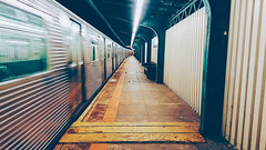 Departure (Juni Safont) Tags: newyorkcity nyc queens platform train jtrain phonecamera straightaway