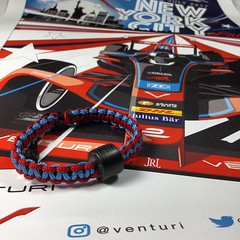 Look what I got in the mail today!! I was one of the lucky winners of the @venturi poster giveaway!! 😁I just had to make a matching bracelet in the teams livery. Thanks @venturi & @nycbenz & @r4thbone I will be getting it framed soon to hang proudly (JenniferRay.com) Tags: instagram carbon fiber jewelry exclusive jrj jennifer ray paracord custom