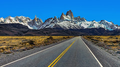 Cerro Fitz Roy (Valter Patrial) Tags: santacruz argentina ar sky landscape nature travel guidance rock highway road snow mountain valley glacier outdoors daylight adventure scenic remote peak no person cerro fitz roy inexplore