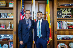 Mayor Garcetti meets with Rhodes Scholar Hassaan Shahawy