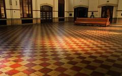 Light Shadow and Tiles (arbyreed) Tags: arbyreed train trainstation unionstation ogdentrainstation unionpacificrailroad railroadstation light shadow tile pattern webercountyutah ogdenutah
