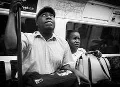where?? (Erwin Vindl) Tags: where streetphotography streettogs candid blackandwhite monochrome tube london erwinvindl olympusomd em10markii