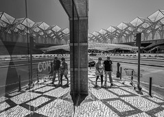 In the Streets of Lisbon #2 (USpecks_Photography) Tags: santiagocalatrava calatrava architecture contemporaryarchitecture modernarchitecture reflection symmetry patterns lines street streetphotography lisbon portugal oriente trainstation