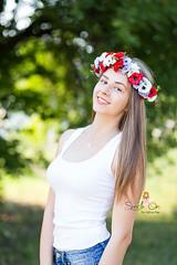 IMG_6940 (Galika_) Tags: teen girl long hair smile sunset sundown summer wreath flower portret memory natural naturallight white green canon 6d 85mm 8518 bulgaria