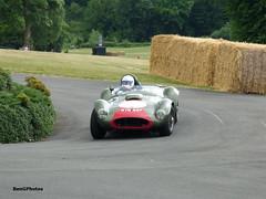 Tony Bianchi - 1958 Farrallac MkII (BenGPhotos) Tags: 2017 chateau impney hill climb classic historic race racing motorsport autosport motor sports sport car green red tony bianchi 1958 farrallac mkii cadillac allard mte857
