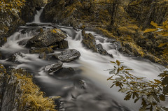 Rhaeadr Nantcol Waterfalls (RedPlanetClaire) Tags: wales shellisland welsh uk rhaeadrnantcolwaterfalls waterfall river long exposure water shutterspeed milky smooth