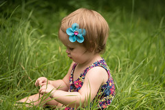 Alice (Michael P Bartlett) Tags: baby girl infant toddler grass young portrait naturallight dof