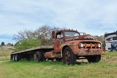 Antique Gas & Steam Engine Museum (USautos98) Tags: 1951 ford f6 bigjob truck tractortrailer bigrig